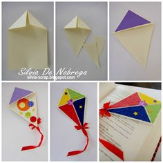 Hola!!... hoy seguimos con los tutos de marcalibros... (si quieres ver los marcapaginas de monstruos y buhos con su tutorial pincha aqu í... Bookmark Craft, Diy Bookmarks, Origami Bookmark, Paper Crafts Origami, Diy Paper, Paper Art, Craft Stick Crafts, Diy And Crafts, Arts And Crafts