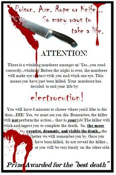 WINKING MURDER MYSTERY!