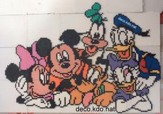 Mickey Mouse and friends hama beads by Deco.Kdo.Nat