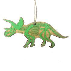 Triceratops Skeleton Christmas Ornament