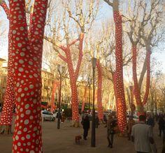 "Art installation ""Arbres cours Mirabeau"" by Joséphine Donten, Marseille 2013"