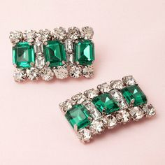 Emerald Shoe Clips by AbsolutelyAudreys on Etsy, $20.00
