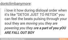 disloyal order of water buffaloes is one of my favorite fall out boy songs