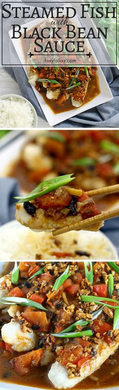Try this savory recipe of steamed fish with black bean sauce or Tausi. | www.foxyfolksy.com
