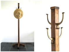 Vintage Mission Style Coat Rack - Wooden Standing Coat Tree - Wood Towel Holder