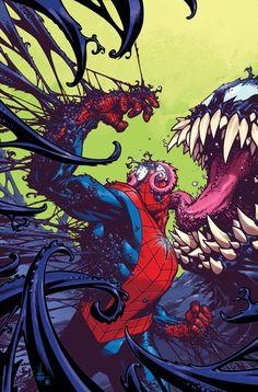 Venom Space Knight (Cover art by Zach Howard) Venom Comics, Marvel Venom, Marvel Dc Comics, Marvel Heroes, Deadpool Wolverine, Amazing Spiderman, All Spiderman, Spiderman Kunst, Comic Book Characters