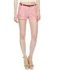 Pleated Linen-Blend Shorts