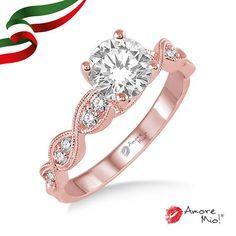 Anillo de oro Rosa 14kt SKU: RG1430371A Diamante Round 0.42 quilates. Color-H, Claridad-VS1, Laboratorio-GIA-DGC, SKU Diamante: 36892 Precio: $33,615.46 pesos M.N *Consulte términos y condiciones.