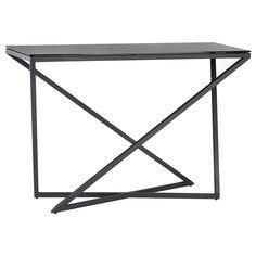 atelier studio loft black glass top console table with metal baseconsoles - Table Atelier Loft