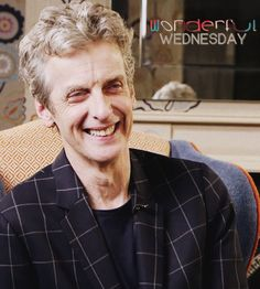 """""""A man whose presence is as vivid and electrifying as his hair, 58-year-old Capaldi makes for compelling company. He possesses an unusual, almost otherworldly charm that makes him perfect for the role of Doctor Who."""" James Rampton, of The Independent, describing interviewing Peter Capaldi"""
