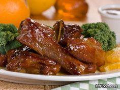 Orange Honey Pork Ribs  Serves: 4  Cooking Time: 30 min  Ingredients        4 pounds country-style pork ribs      1 cup orange marmalade      1/2 cup honey      1 teaspoon cayenne pepper sauce      1 teaspoon ground cumin      1/2 teaspoon salt