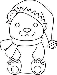 I Love You Teddy Bear Coloring Page