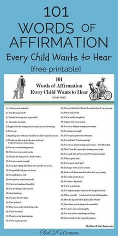 """Do you recognize the need to build up your children every day, too? This list of phrases will encourage the child who hears them from a sincere parent. There are so many """"voices"""" in this world telling our kids they don't measure up. Behind every young child who believes in him, is a parent who believed in him first. Let's go on the offensive and help our girls and boys see how truly wonderful they are. ~ Club31Women #YoungParenting"""
