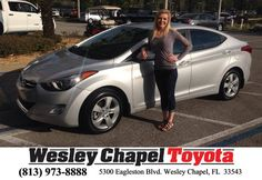 https://flic.kr/p/EFgY7g | Congratulations Allyson on your #Hyundai #Elantra from Ross MacDonald at Wesley Chapel Toyota! | deliverymaxx.com/DealerReviews.aspx?DealerCode=NHPF
