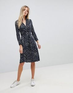 French Connection | French Connection Printed Jersey Wrap Dress