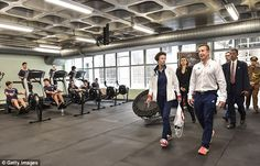 The Princess inspects Team GB's rowing machines. Yesterday she met host of Team GB hopeful...
