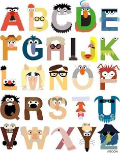 threadless: Muppet Alphabet by m_baboon is one of the submissions to The Muppets Design Challenge! The Muppets, Letras Abcd, Alphabet Print, Alphabet Wall, Typography Alphabet, Alphabet Design, Animal Alphabet, Alphabet Display, Childrens Alphabet
