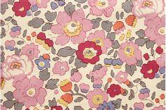 Liberty tana lawn printed in Japan - Betsy - Old rose mix