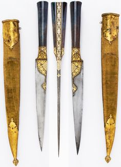Persian kard dagger, ca. 1800, steel, agate, gold, wood, velvet, copper, L. with sheath 18 7/8 in. (47.9 cm); L. without sheath 15 in. (38.1 cm); W. 1 1/4 in. (3.2 cm); Wt. 16.3 oz. (462.1 g); Wt. of sheath 4.4 oz. (124.7 g), Met Museum, Bequest of George C. Stone, 1935.