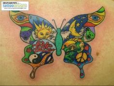 tattoos-for-women-colored butterfly