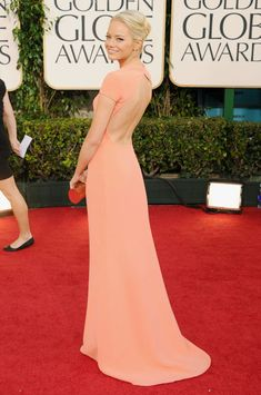 Emma Stone arrives at the 68th Annual Golden Globe Awards held at The Beverly Hilton hotel