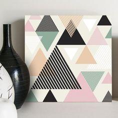 Quadro Decorativo Pastel Triangles