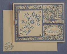 Image detail for -this card was stamped with the new elements of style stampin up stamp ...