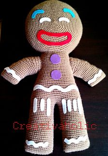 giant gingerbread man crochet