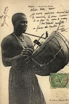 Niger - Musicien bozo, 1907