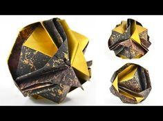 """Origami Jewelry Box: """"Japanese Brocade"""" Designed by Minako Ishibashi"""