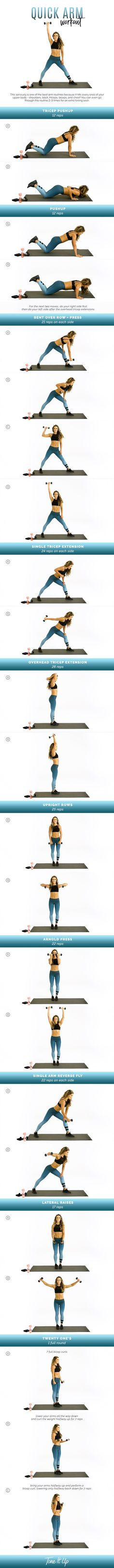 New Quick Arm workout! This is the perfect quickie routine to fit in before hitting happy hour or meeting up with a date. Check out the video on ToneItUp.com!