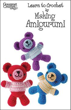 "Learn to Crochet by Making Amigurumi Pattern GC45107 - Called ""amigurumi"" in Japan—translation ""knitted doll""—little crocheted animals and dolls have become a favorite of collectors worldwide."