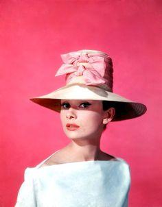 Audrey Hepburn in hats, vintage