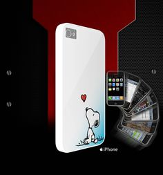 snoopy in love - white for iphone 5 and iphone 4/s case