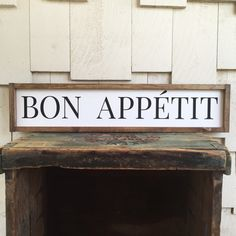 Bon Appetite Framed Wood Sign Farmhouse Style by 4Lovecustomgifts