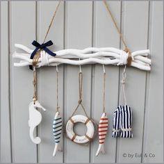 Marin Dekorasyon Fikirleri ve Örnekleri Uzmanından Tavsiyeler Driftwood Crafts, Seashell Crafts, Sea Crafts, Diy And Crafts, Beach House Decor, Diy Home Decor, Deco Marine, Summer Deco, Deco Originale