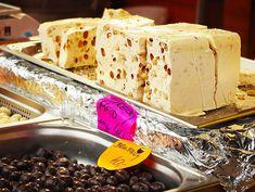 Tahini based Greek halva with nuts is one of the top delicacies in the Greek food hall of fame! Custard Desserts, Greek Desserts, Greek Recipes, Fun Desserts, Bulgarian Desserts, Bulgarian Recipes, Greek Donuts, Halva Recipe, Diet