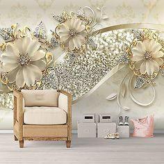 Discover thousands of images about Vlies Fototapeten - Wandtapeten Schmuck Luxus Europäischen Stil Staircase Wall Decor, 3d Wall Decor, 3d Wallpaper For Walls, Wallpaper Decor, Ceiling Design, Wall Design, Design Room, Hm Deco, 3d Wanddekor