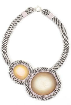 Surrounded Night Duo Double Roped Necklace 10 by Brook&Lyn (via Refinery)