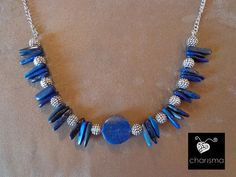Lux lapis lazuli statement necklace and by CharismaBolivia on Etsy, $145.00