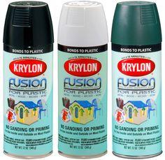 Krylon Fusion Gloss White Spray Paint for Plastic oz.Canizales - Krylon Fusion Gloss White Spray Paint for Plastic oz. Krylon Spray Paint, White Spray Paint, Plastic Shutters, Diy Shutters, Bedroom Shutters, Spray Paint Plastic, Painting Plastic Bins, Plastic Playhouse, Backyard Playset