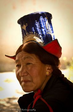 Portrait of a Ladakhi Lady by viwehei, via Flickr. people photography, world people, faces