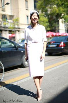#women #fashion #oksanaon #lightpink  #skirt #shirt #glamour #beauty #streetfashion #streetstyle #style #look #outfit #streetbeauty #street #women