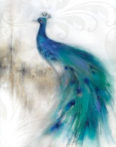 Jewel Plumes II art poster and other works by artist J. Prior on sale today. Canvas Art Prints, Framed Art Prints, Painting Prints, Fine Art Prints, Paintings, Peacock Canvas, Peacock Art, Peacock Images, Peacock Blue