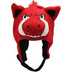 NCAA Arkansas Razorbacks Toddler Mascot Knit Hat - Cardinal Football Fanatics. $16.95