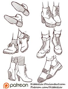 Drawing Tips Shoes Feet