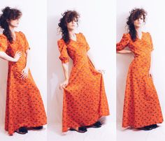 Vtg 70s does 30s Red Floral Print Long Maxi Dress by MoveBabyVintage on Etsy https://www.etsy.com/listing/273900418/vtg-70s-does-30s-red-floral-print-long
