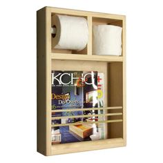 On The Wall Magazine Rack/ Toilet Paper Combo   Overstock™ Shopping   Great  Deals On Bathroom Hardware