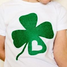 Shamrock Shirt - Instead of heart do boys First Letter?