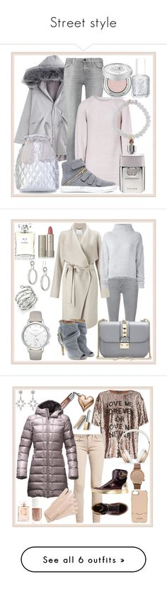 """""""Street style"""" by glamheartcafe ❤ liked on Polyvore featuring 7 For All Mankind, Reiss, Sydney Evan, Essie, Gucci, Urban Decay, Mother, Finesse, Maison Margiela and Valentino"""